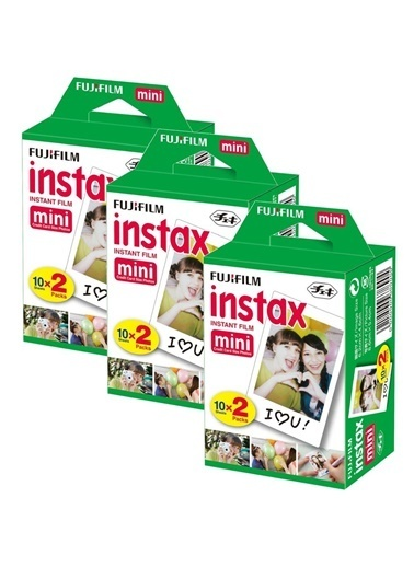 Fujifilm Fujifilm 3'Lü Paket 60 Poz Instax Mini Film Renkli